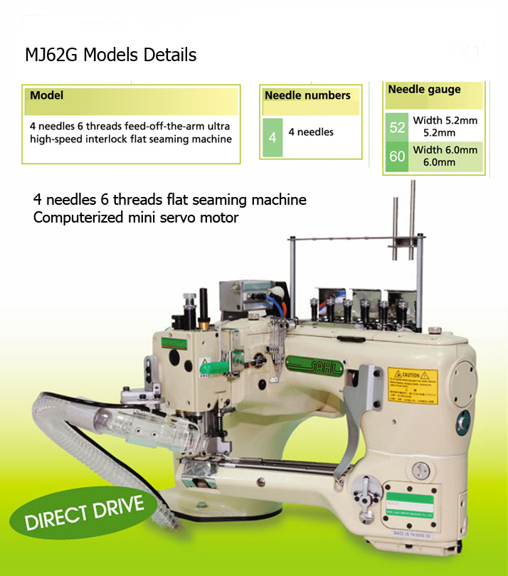 4 NEEDLE , 6 THREAD FEED-OFF-THE-ARM INTERLOCK FLAT SEAMING ,  จักรข้อศอก